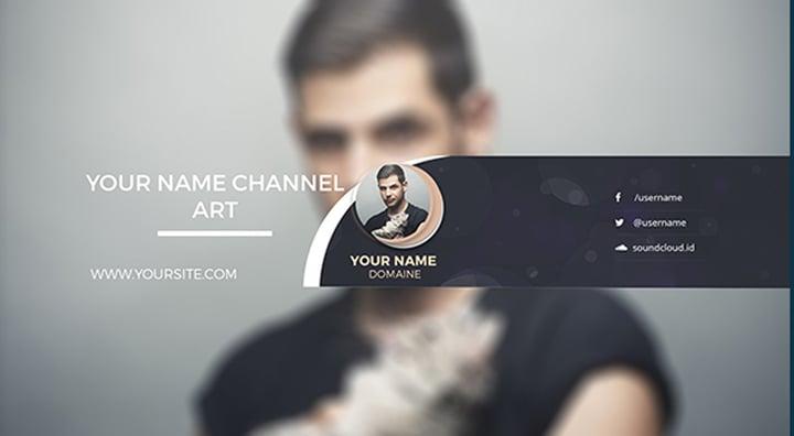 Minimalist Design YouTube Channel Art