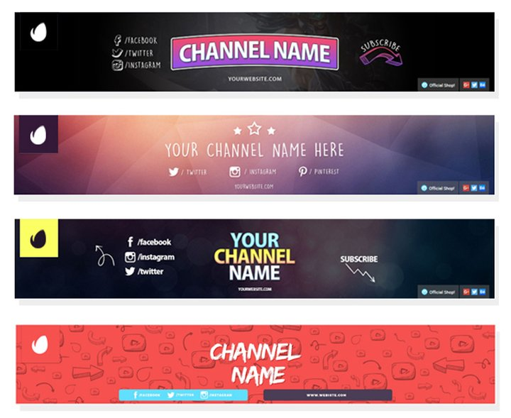3 Multipurpose YouTube Channel Banners