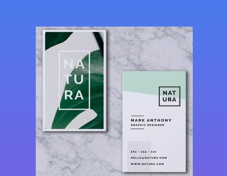 Natura Business Card Template