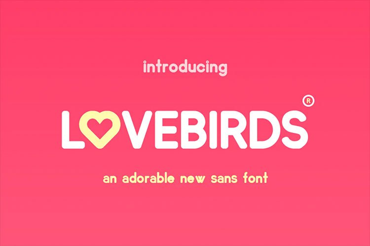 Lovebirds Font for iPhone and iPad