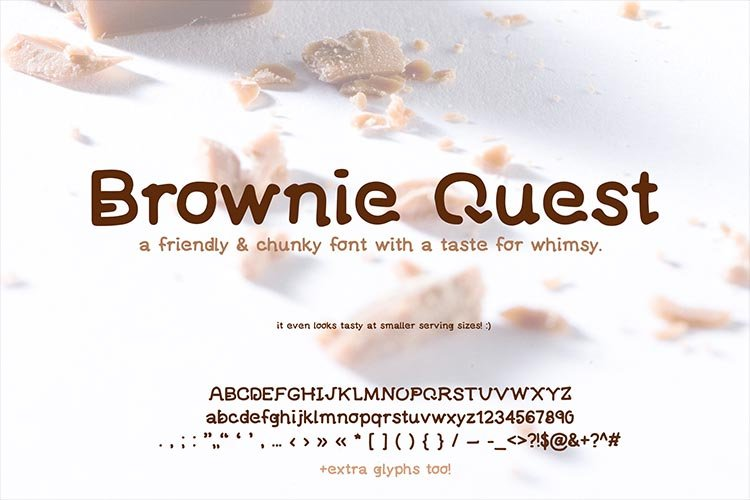 Brownie Quest Font for IPhone and IPad