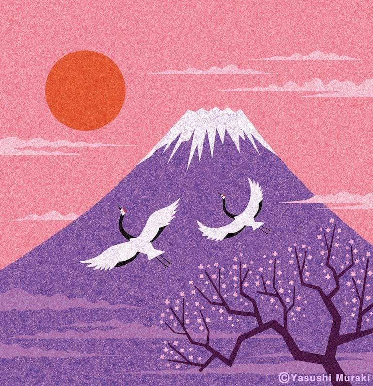 Fuji Mountain Art by Yasushi Muraki