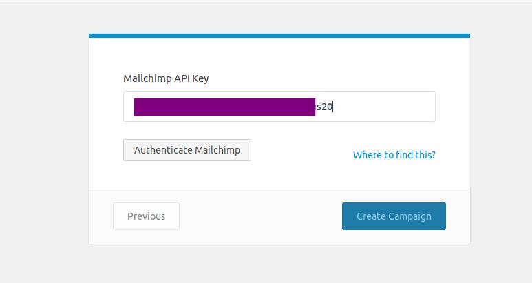 Authenticate MailChimp