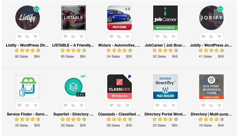 Best-selling Wordpress Directory Themes