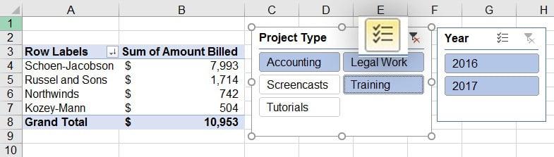 Mutli-select in Microsoft Excel