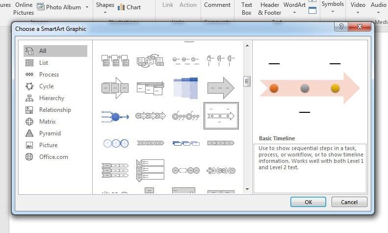 PowerPoint Timeline SmartArt Graphic