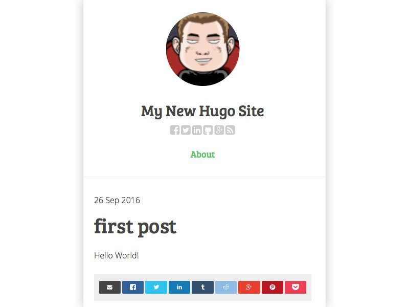 An example of testing out a theme in Hugo with your first post
