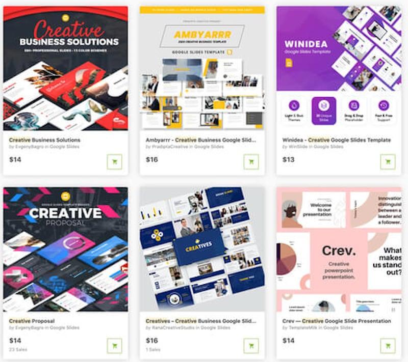 GraphicRiver Google Slides Templates
