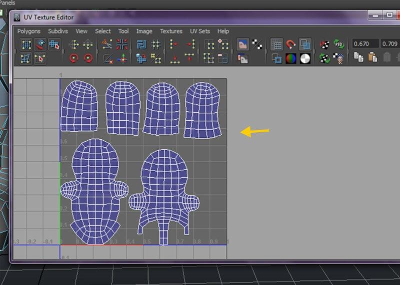 arrange the UV layout