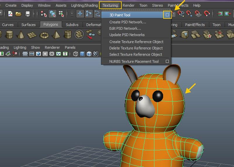 Texturing  3D Paint Tool