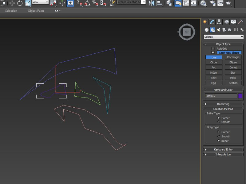 Create  Shapes  Line