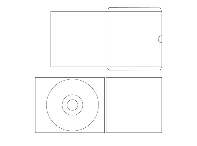 CD label template CD jewel cover case template and CD sleeve case template