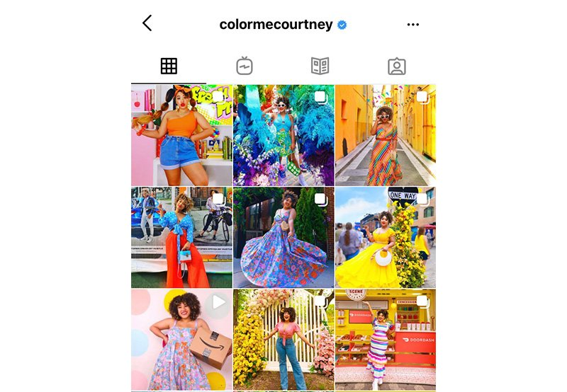 Bright colors Instagram feed