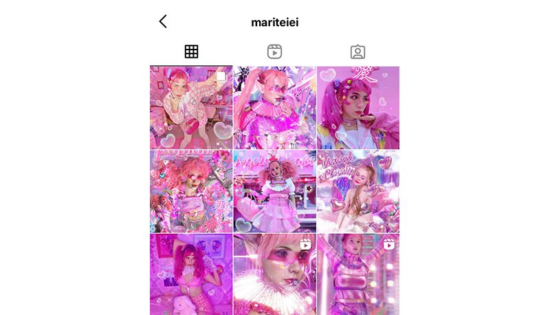 Bright pink Instagram feed