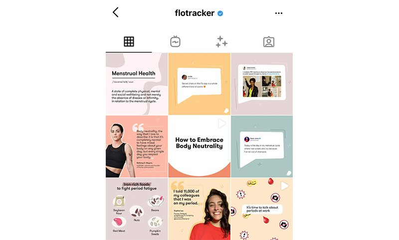 Colorful journal Instagram feed