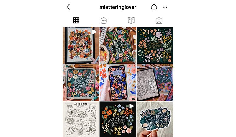 Detailed art Instagram account