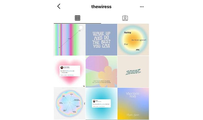 Gradient Instagram feed