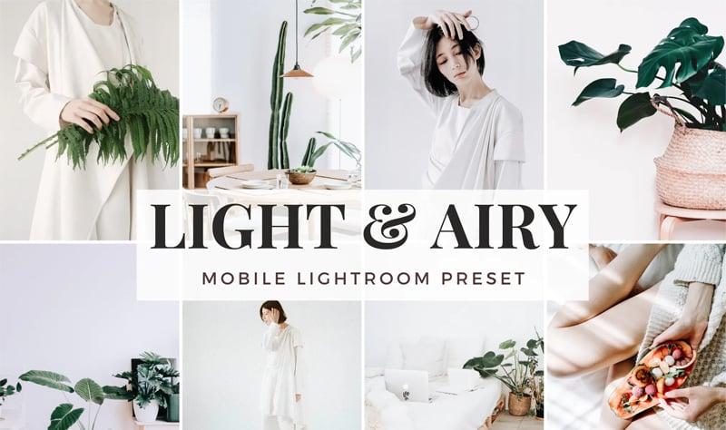 Light & Airy Mobile Lightroom Presets