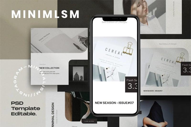 MINIMALISM - Social media Kit