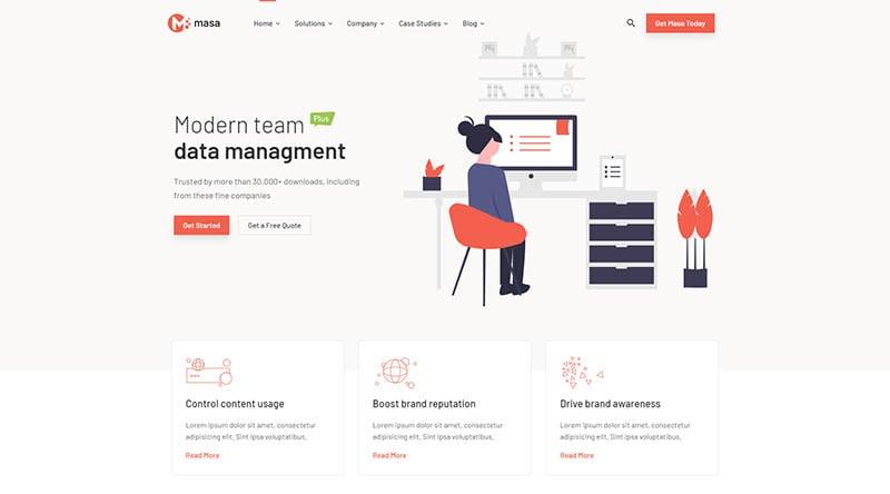 Masa - Creative Startup WordPress Theme