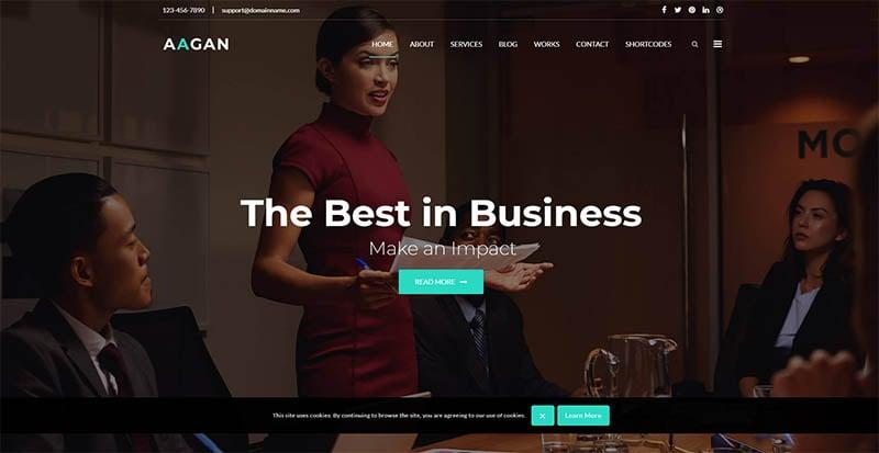 Aagan - Agency Startup WordPress Theme