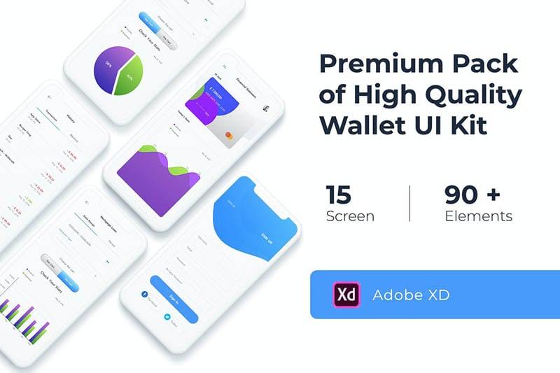 Wallet UI KIT for XD
