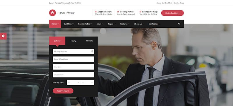 Chauffeur - Limousine Transport And Car Hire WP Theme