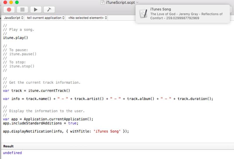 iTunes Script