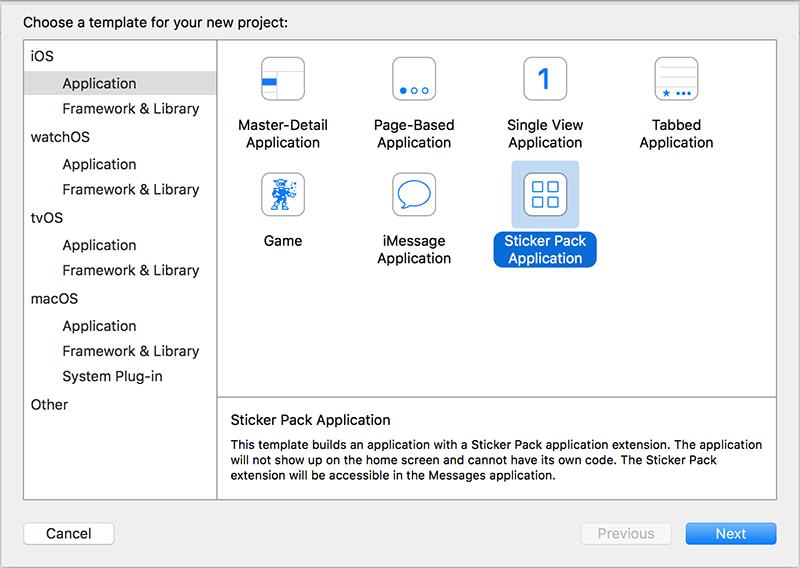 Sticker Pack Application Template
