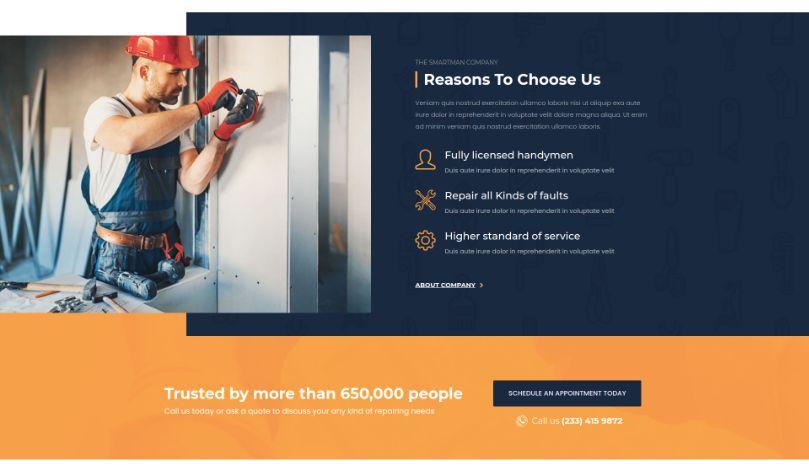 Smartman - WordPress Theme For Handyman Service