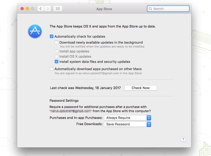 Configure App Store Updates