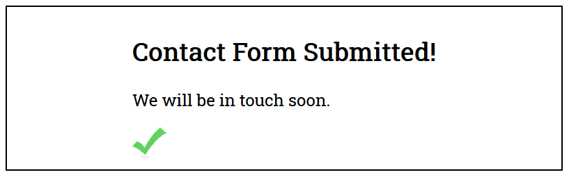 Successful Submission