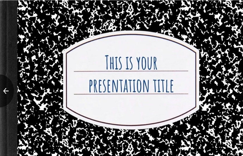 Composition Book Template