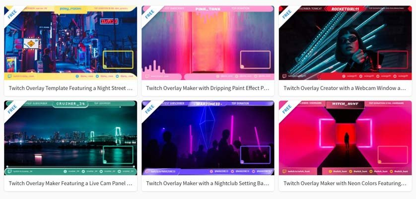 Free Twitch Overlays available on Placeit