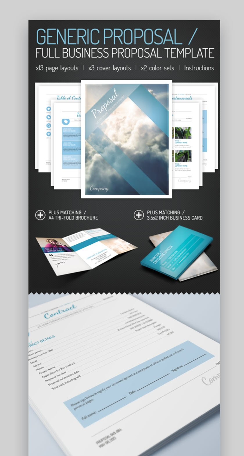 Full business proposal template