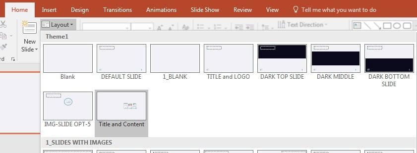 Change Slide Layout in PowerPoint