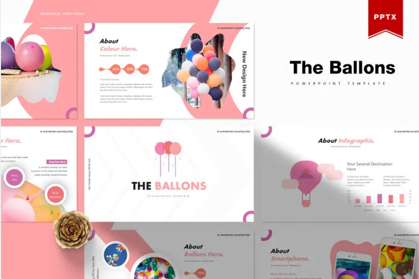 Ballons Birthday PPT Template