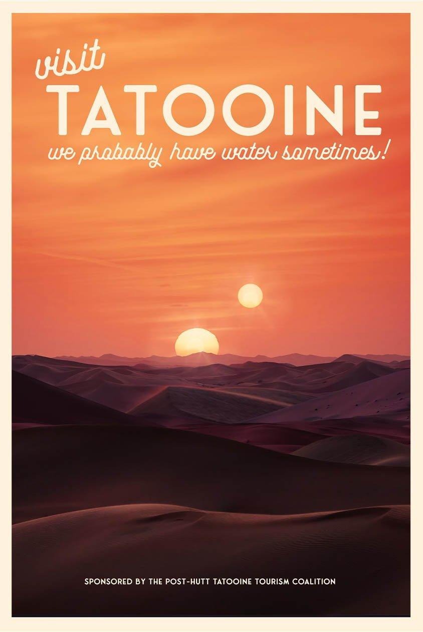 Tatooine poster slogan