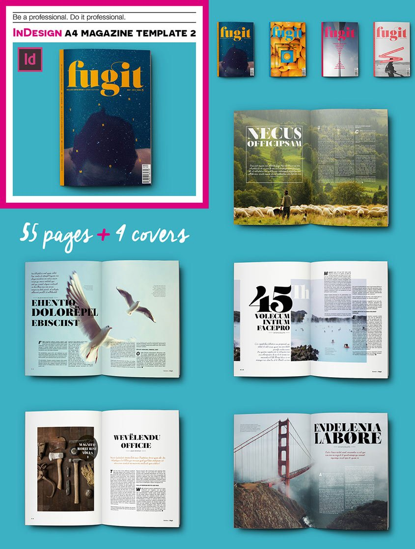 InDesign A4 Print Magazine Template 2