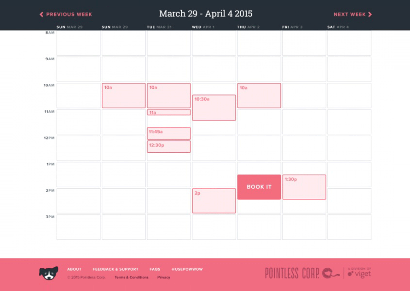 usepowwowcom a research session scheduling tool