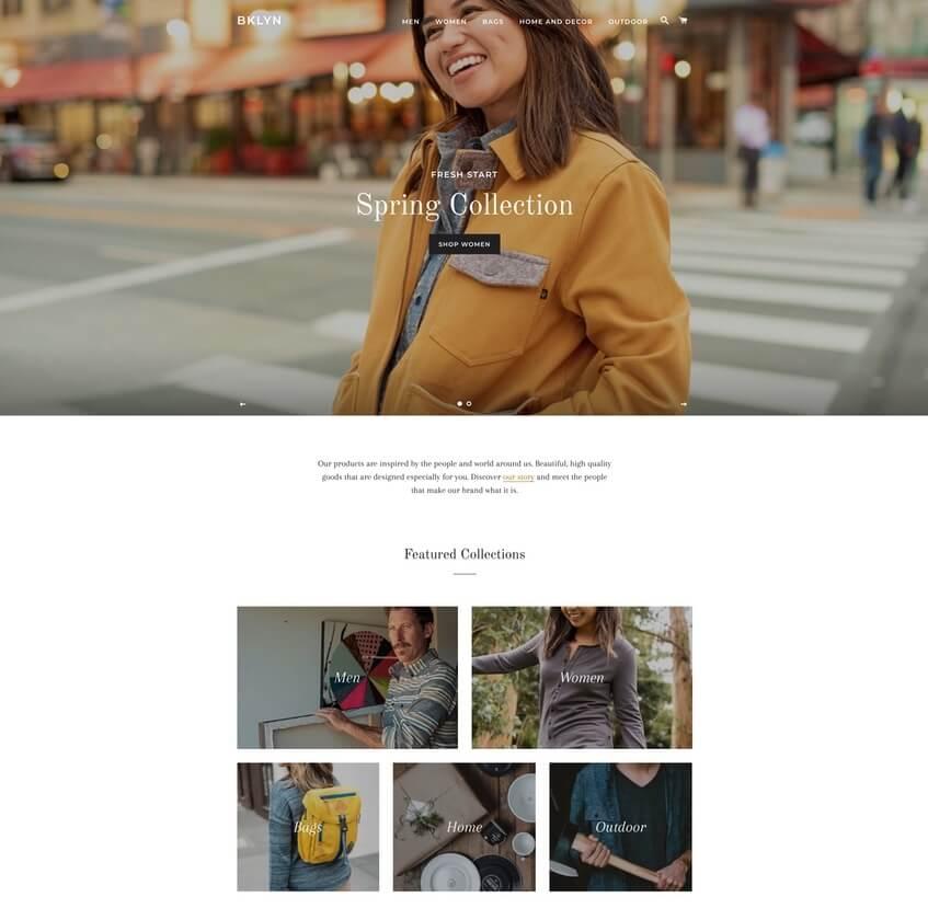 Brooklyn Theme - Plantilla gratis de Shopify para tienda en línea