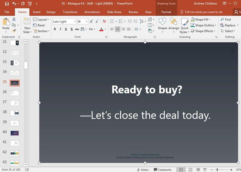 Introductory Presentation final slide design