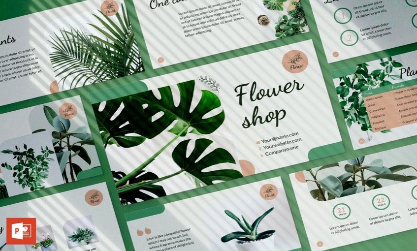 powerpoint templates flowers - FlowerShop