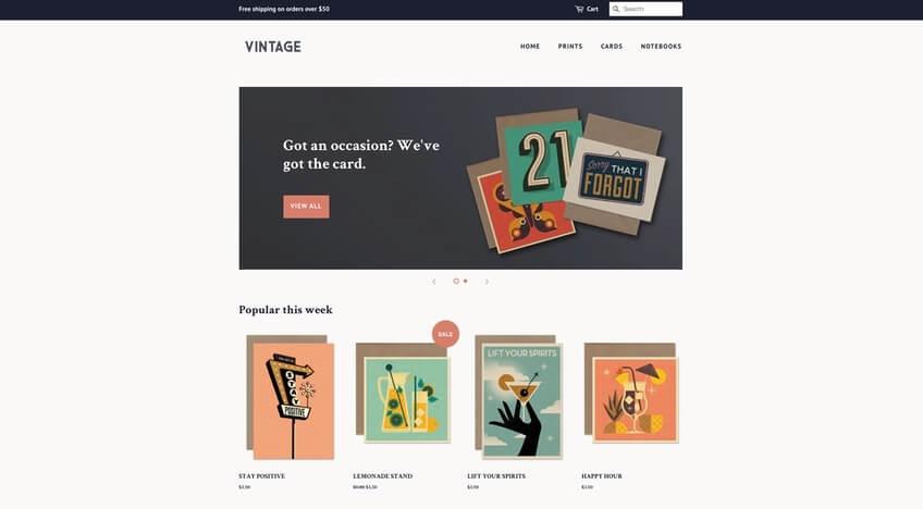 Minimal Theme - Plantilla gratis de Shopify para tienda en línea