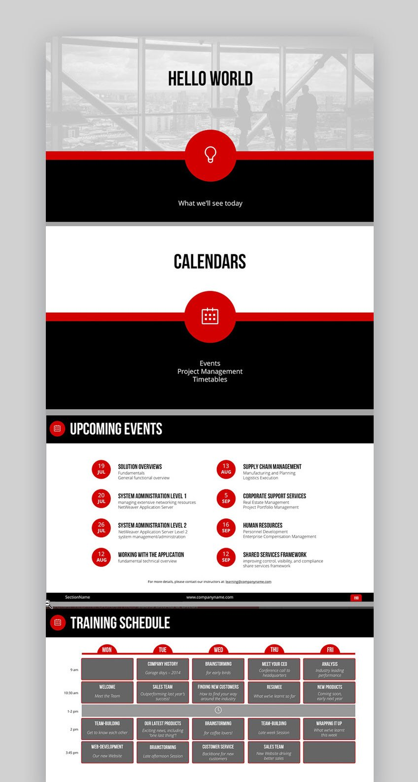 Spot On presentation template