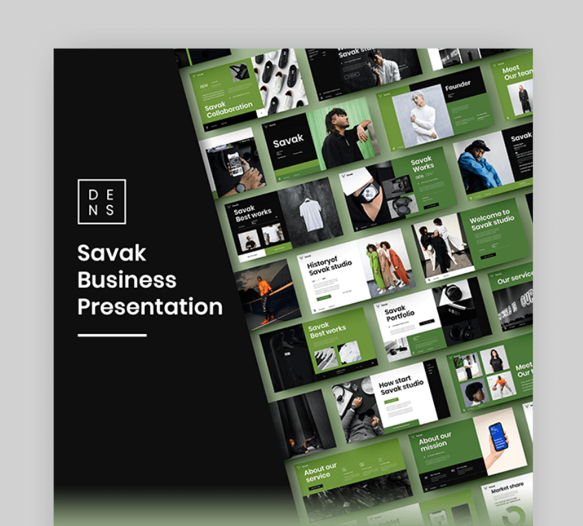 savak ppt template for self introduction