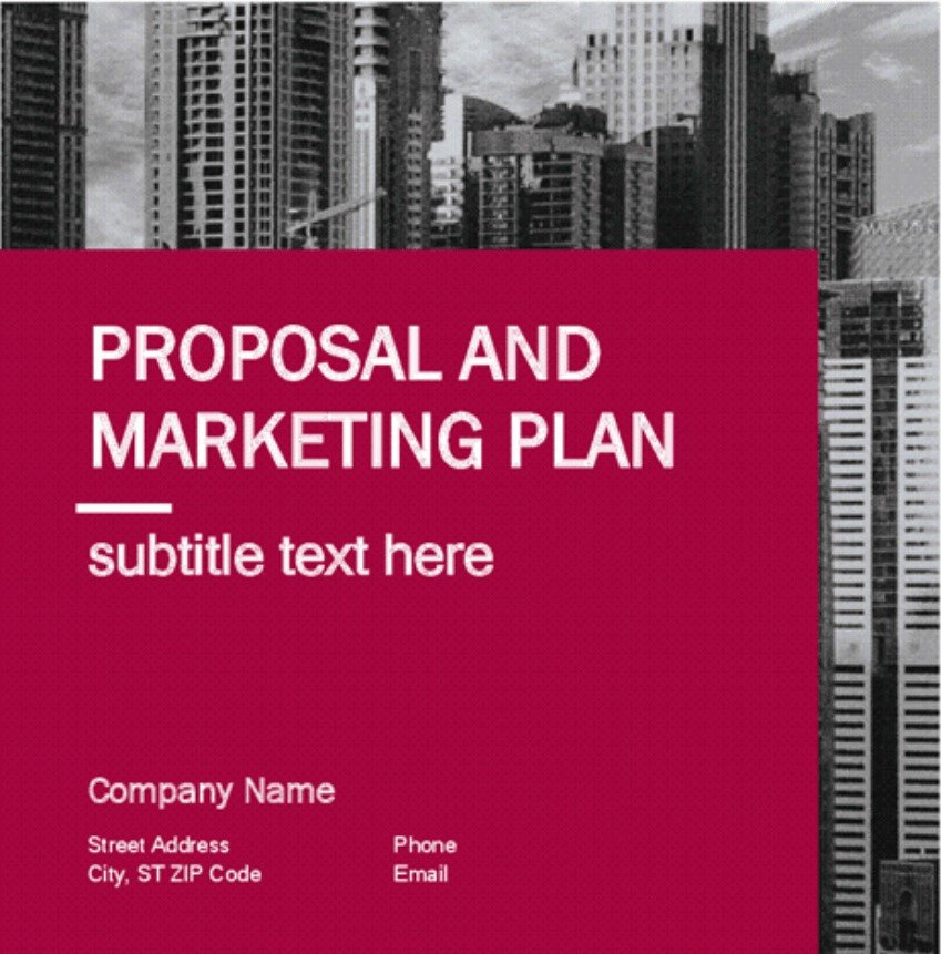 marketing plan template for free download