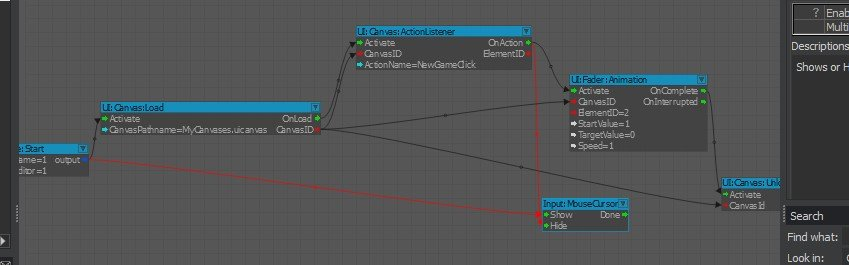 The complete mygraphdemo flow graph