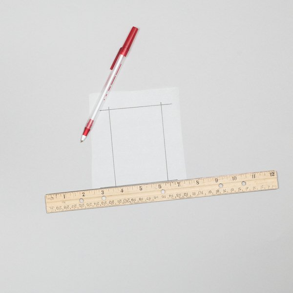 Measure out a bounding box on your tracing paper in pen