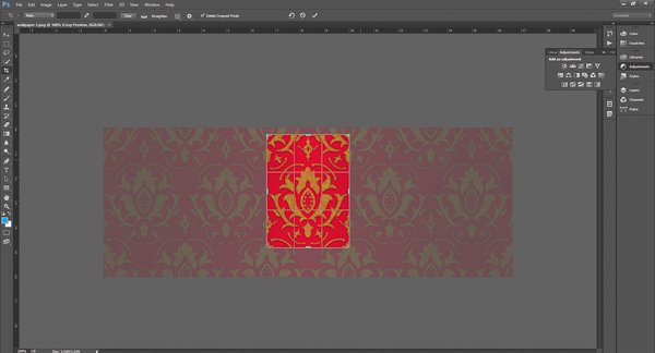 Crop your image down to the simple repeating pattern